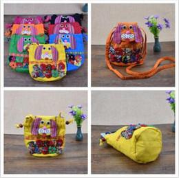 Wholesale Folk Dog - 10 Colors Fashion Children Patchwork Dog Messenger Bag Folk-custom Backpacks Outdoor Travel Bags Dog Shoulder Bags CCA7579 50pcs