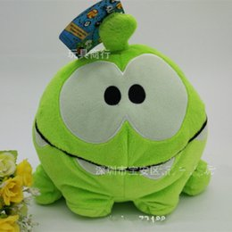 Wholesale Om Nom Plush Toy - Wholesale- 8 Inches Cut The Rope Happy Om Nom Stuffed Plush Toys Cute Cartoon Om Doll stuffed toys for birthday gift