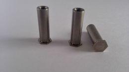 Wholesale Rivets Blinded - BSOS-3.5M3 Blind hole pressure riveting stud Hexagon blind nut column Zinc, nickel,ecru A large number of inventory