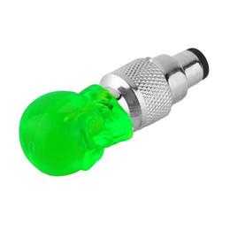 Wholesale Led Lights For Tyres - Wholesale1 pcs Skull Shape Valve Cap LED Light Wheel Tyre Lamp for Car Motorbike Bike