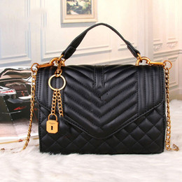 Wholesale Blue Quilted Chain Bag - bags handbags women famous brands Bronze chain bag fashion quilted bag tassel shoulder crossbody bags female luxury handbags wholesale