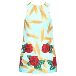 Wholesale Summer Kids Dress Fashion - Girls Dress Summer Clothing Dresses Floral Print Fashion Girl Dress Princess Kids Clothing Designer Kids Girls Clothes
