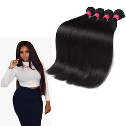Wholesale Dyable Brazilian Hair - Top Quality Malaysian Straight Hair Dyable And Bleachable Grade 8A Unprocessed Virgin Human Hair Extension Natural Black #1B Weft Straight