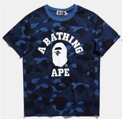 Wholesale Hip Hop Long T Shirts - Hot sales shark T Shirt Men Top Quality 100% Cotton Hip Hop aapes Street Short Sleeve Tees Kanye West Yeezus Couple T Shirt