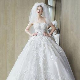 Wholesale Korean Fashion Wedding Gowns - Wedding dress 2017 new bride wedding Korean version was thin belly high waist wedding princess dream Sexy style of hair fashion and elegant