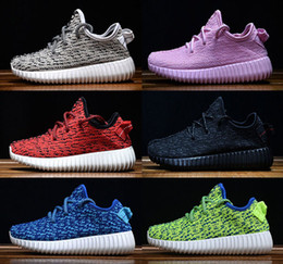 Wholesale Dive Multi - (With Shoebox) 2017 New 350 Boost Kids Running Shoes 350 Boost V2 V3 Turtle Dove Pirate Black Boys Girls Sneakers