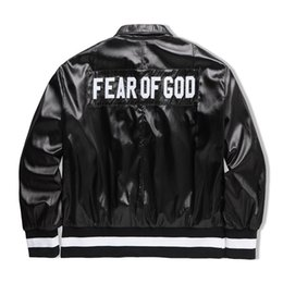 Wholesale Black Collection Clothing - HOT!! 2017 FEAR OF GOD Collection Women Men Jacket JUSTIN BIEBER High street Clothes Clothing FOG Single Breasted Jackets Coats