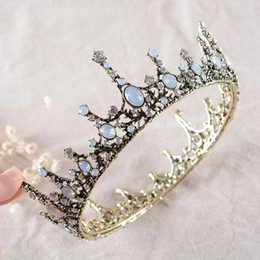 Wholesale Chic Crystals - New Arrival 2017 Vintage Rhinestones Bridal Crown Baroque Tiaras For Special Occasion Chic Headbands Hairbands Headpieces For Wedding