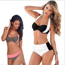 Wholesale Free Swim Sets - 2017 Sexy Large Size Swimwear For Women Bikinis Brazilian Push Up Bikini Set Swimming Swimsuit Bathing Suit Biquinis Swimwear Free Shipping