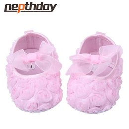 c28ff9efb5b9 baby flower booties Australia - Wholesale- Newborn Baby Girl Shoes