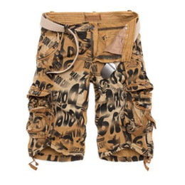 Wholesale Red Camouflage Military - 2017 New Summer Men Casual Shorts Pants Camouflage Baggy Cargo Shorts US Combat Frock Short Military Style Plus Size Cotton Pants
