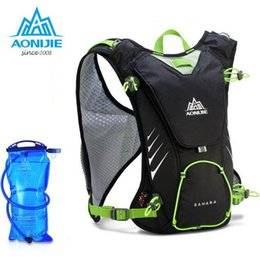 Wholesale Backpack For Water Bag - Wholesale- AONIJIE 8L Backpack Outdoor Sports Racksack Maratho Hydration Bladder Water Bag For Outdoor Cycling Camping Hiking
