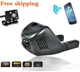 Wholesale Car Cam Wifi - Car Camera Car DVR WiFi 1080P FHD Car Dvrs mini Night Vision Dash Cam Recorder Rotatable Lens Wireless Snapshot Auto Camcorder ainina