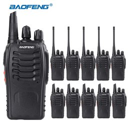Wholesale Bf Walkie Talkie - Wholesale- 10PCS lot Baofeng BF-888S Walkie Talkie 5W Handheld Walkie Talkie bf 888s UHF 400-470MHz 16CH Two Way Raio Portable Transceiver