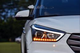 Wholesale Led Daytime Hyundai - Auto Headlights for Hyundai Creta 2015 LED Head Lamp for IX25 Head Lamp LED Daytime Running Light LED DRL Bi-Xenon HID