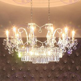 Wholesale Used Chandelier Crystals - ectangle Crystal Chandelier Light Fixture Used in Dinning Room ,length 110cm Guaranteed 100%+Free shipping