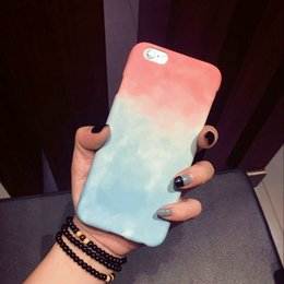 Wholesale Sweets Candies Colorful - Colorful Gradient Case For iPhone 6 Case For Apple iphone Cute Sweet Candy Color Phone Cases Back Cover Funda