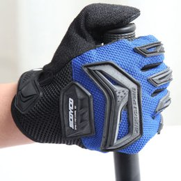 Wholesale Tactical Gloves Blue - Summer Tactical Gloves of Breathable Fabric and Armour Free Size Full Finger Cycling Finghting Game Gloves