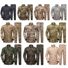 Wholesale Bdu Woodland Shirt - Outdoor Woodland Hunting Shooting Shirt Battle Dress Uniform Tactical BDU Set Army Combat Clothing Camouflage US Uniform SO05-003