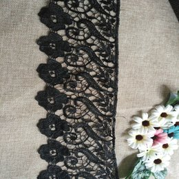 Wholesale Elastic For Sewing - 2017 new fashion 15cm black elastic lace trim for sewing DIY wedding dress underwear headwear bags accessories wholesale free shipping