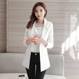 Wholesale Elegant Jackets Women - Slim 2017 Women Elegant Long Ladies Blazers Plus Size Female Blazer Jackets Chaqueta Mujer Female Business Suit Casaco 60N0433