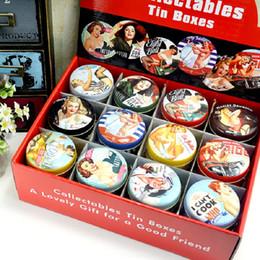 Wholesale Doodle Case - Round Storage Box Delicious Cake Cute Doodle Container Retro Women Lipstick Tin Boxes Portable Durable Case Hot Sale 1 85gf D