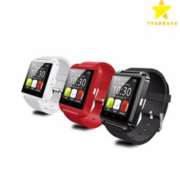 Wholesale Remote Control For Android - U8 Bluetooth Smart Watch Touch Screen Wristwatch for Android Samsung Note Phoone Smartphoone with Retail Box