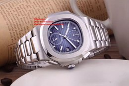 Wholesale Watch Transparent Automatic - 3 Colors Luxury High Quality Watch Classic Series 40.5mm Nautilus 5990 1A-001 Stainless Steel Mechanical Transparent Automatic Mens Watches