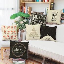 Wholesale Snowflake Cushions - Christmas pillowcase Snowflake deer printing literature and art Pillow case Office sofa cushion cover Household pillow cushion