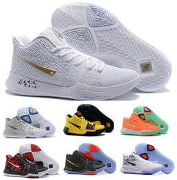 Wholesale Nylon Lace Fabric - Cheap Kyrie 3 Basketball Shoes Men Cheap Orange Crossover Huarache Cavs Kyrie Irving 3s III Basketball Sports Shoes Replicas Sneakers Size 5