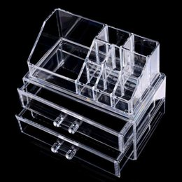 Wholesale Organizer Acrylic - 2017 High Quality Clear Acrylic Cosmetic Jewelry Organizer Makeup Box Case Makeup Box Case SF-1063