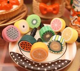 auriculares 3d Rebajas Enchufe para polvo, lindo enchufe para polvo de fruta, iphone5 / 4 enchufe para polvo de fruta, teléfono móvil, diseño de frutas