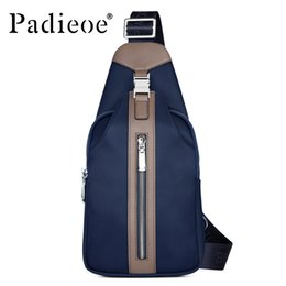 Wholesale Mini S Cell Phone - Wholesale-Padieoe Fashion Men canvas bags high quality men 's one shoulder bags Casual mens messenger bags Leisure waist pack bag for male