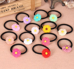 Wholesale Goddess Hair Band - High quality Summer small fresh daisy sweet goddess temperament hair ring hair rope FQ039 mix order 100 pieces a lot