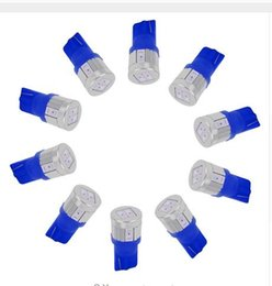 Wholesale Crystal Tail Lights - 100PCS T10 6SMD 10SMD 5630 5730 High Power Signal Tail Turn Bulb Light License Plate Lights