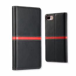 Bolsa magnética magnética para iphone on-line-Personalizado Mobile Phone Case Capa Magnetic carteira de couro da aleta Card Case Pouch Stand Holder para o iPhone 6S Além disso,