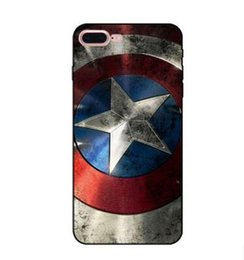Wholesale Captain Painting - Relief Captain America UK Flag Case For iphone 7 plus 6 s 6s plus 6plus 5 5s se iphone7 3D Cover Phone Painted Cases tpu Soft