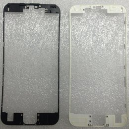 Wholesale Iphone Hot Frame - New Front LCD Bezel Frame With Liquid Hot Glue Replacement Repair Part For iphone 6s plus 4.7 5.5 inch white black