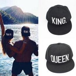 Wholesale Sport Queens - Spring and summer new King Queen letter couple hat creative fashion outdoor sports sun baseball cap XY