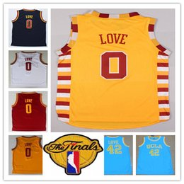 Wholesale Cheap 42 - 2017 Finals Basketball 0 Kevin Love Jersey Red White Blue Yellow Black Cheap Stitched 42 Kevin Love College Basketball Jerseys Shirt