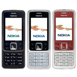 Wholesale Multi Camera Bluetooth - Refurbished Original NOKIA 6300 Unlocked Bar Mobile Phone 2.0 inch Tri-Band 2.0MP Camera Bluetooth FM Mp3 Renew Cellphone Multi-Language