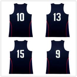 Wholesale Green Rev - Blue Rev 30 Dream team USA basketball jerseys Men's #4 #5 #7 #9 #10 #11 #12 #13 #14 #15 Jersey Rev 30 100% Stitched Jersey Free Shipping