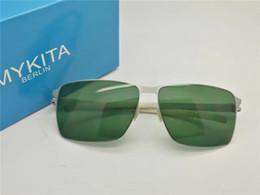 Wholesale New Designs For Glass Memory - New mykita PIERCE designer sunglasses for man ultralight Alloy Memory frame sunglasses for women cool outdoor design sun glasses