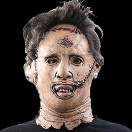 Wholesale High Quality Movie Masks - The Texas Chainsaw Massacre Leatherface Masks Scary Movie Cosplay Halloween Costume Props High Quality Toys Party Latex mask