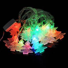 tapones de arbol Rebajas Cambiable 4M 20LEDs Árbol de Navidad Cadena de Luz Fiesta de Navidad Decoración de La Boda Lámpara AC110V EE. UU. Plug
