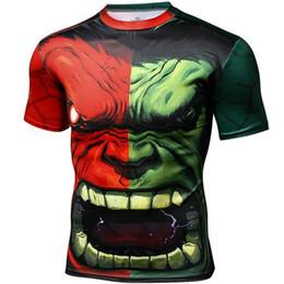 Wholesale Hulk T Shirts - Robert Bruce Banner T shirt Hulk head short sleeve Super hero tees Casual clothing Unisex cotton Tshirt