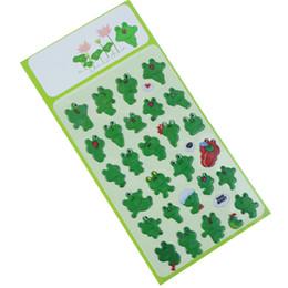 Wholesale Wholesale Kids Sticker Albums - Wholesale- Kawaii Sponge Bubble Sticker Frog For Kids Toy Notebook Album Planner Memo Pads Stickers Office School Supply