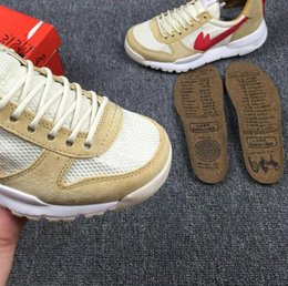 Wholesale Tom Shoes Wholesale - 2017 Tom Sachs x Craft Mars Yard 2.0 TS NASA Joint Limited Sneakers Tom Sachs Ybca Natural Sport Red Maple Running Shoes Size 36-45