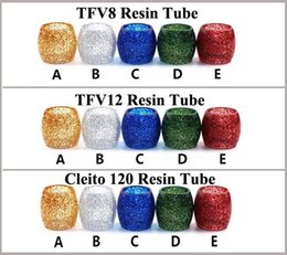 Wholesale Shinny Top - Shinny Dollars Replacement Tube TFV8 Epoxy Resin TubeTank Capacity E Cigarette Tubes For TFV8 Cleito 120 TFV12 Atomizers Top Quality
