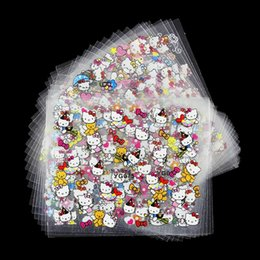 Wholesale Designed Nail 24 - Wholesale- 24 Manicure Designs Colorful Hello Kitty Nail Stickers, Nails DIY Beauty Decorations Tools For 3D Nail Art JH156